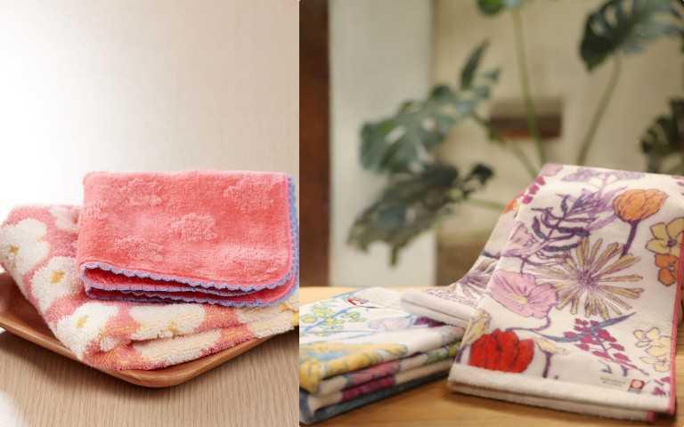 (左)朵茉麗蔻精心準備高級日本製今治毛巾,給肌膚最溫柔的全面呵護。即日起至2021年5月31日止,首次購入朵茉麗蔻指定套組,即可獲得花漾方巾手帕組等首購好禮。(右)朵茉麗蔻會員專屬禮遇,2021年4月1日至6月30日期間內,凡購齊基本4點即可獲得今治毛巾-露台上的波麗聯名款。(圖/品牌提供)