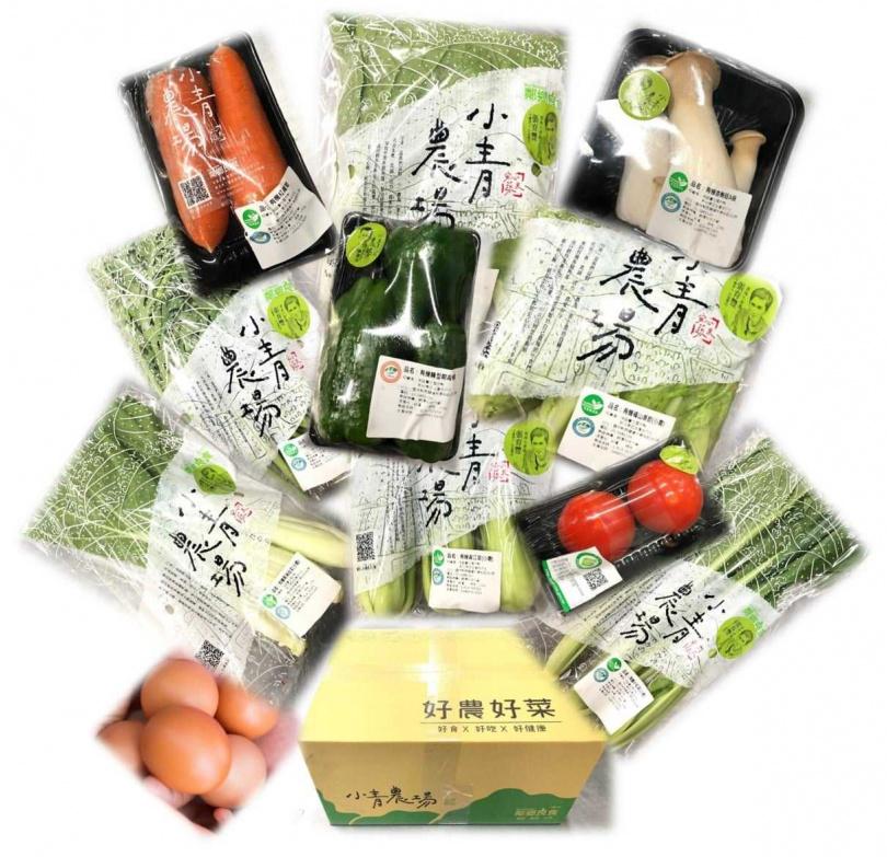 「鄰鄉良食」社會企業共推出兩款青農履歷蔬菜箱。(圖/鄰鄉良食)