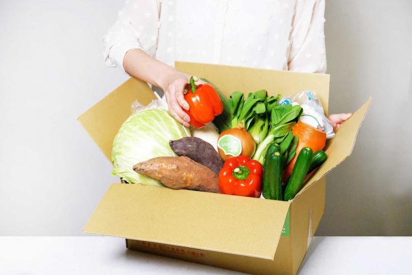 六福集團由五星採購及主廚選材推出「六福首選蔬菜箱」。(圖/六福集團)