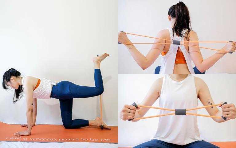背部拉伸、腿部拉伸、手臂鍛鍊都可以一繩搞定。(圖/品牌提供)