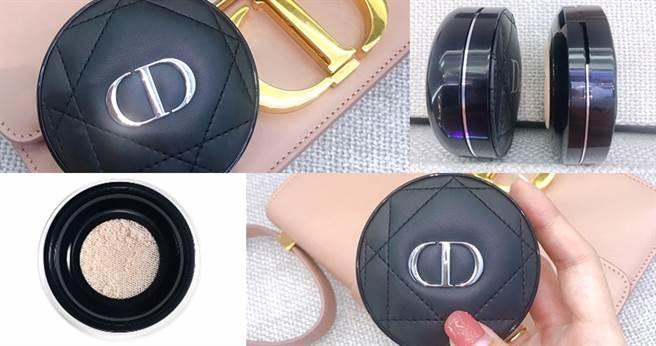 另一大亮點是這次的粉盒改版為更輕、更薄、更適合外出補妝使用的薄型粉盒子,讓上妝、補妝沒煩惱!Dior超完美柔霧光氣墊粉餅/2100元(圖/黃筱婷拍攝)