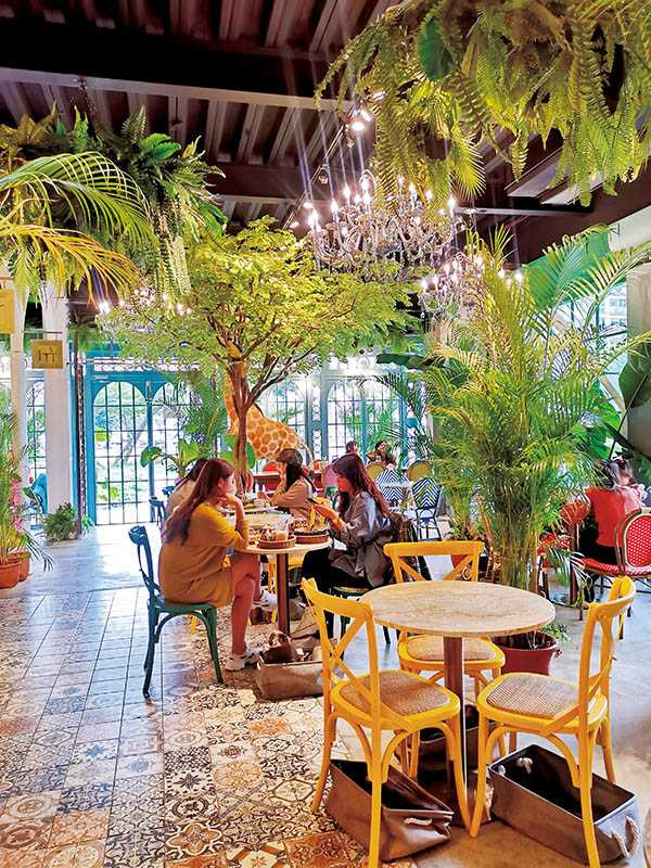 以繽紛色彩混搭叢林風的JAI宅,進駐新竹後,成為熱門的打卡餐廳。(圖/JAI宅提供)