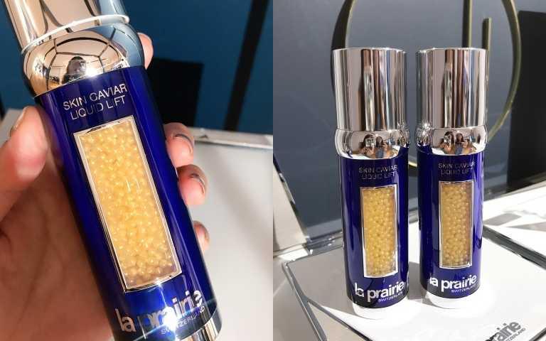 La Prairie黃鑽魚子緊俏拉提精華50 ml/23,950元(圖/黃筱婷攝影)