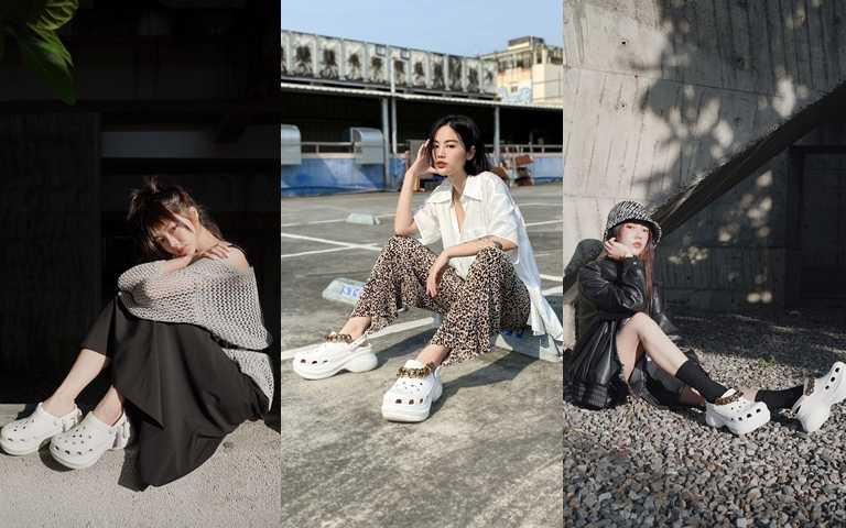 台灣潮模李柔搭出獨特的街頭潮感,顛覆休閒鞋的刻版印象!(圖/Crocs Taiwan)