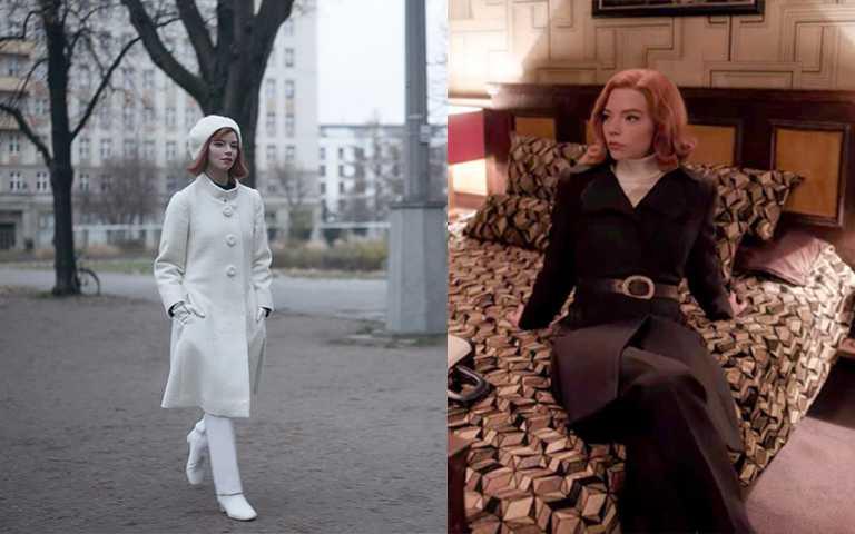 整身顏色不超過兩種的ONE TONE穿搭,是最容易穿出高級感的技巧。(圖/Netflix,Pinterest)