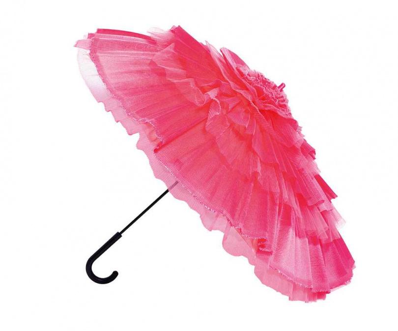 陽傘是鬼鬼去年跨年表演的道具,由道具阿姨特別徹夜趕製,總共有8支,花費5萬多元。(攝影/莊立人)