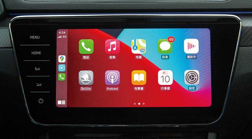 中控台的CNS第三代資訊娛樂系統,升級為9.2吋觸控螢幕,並導入手勢功能。(圖/黃耀徵攝)