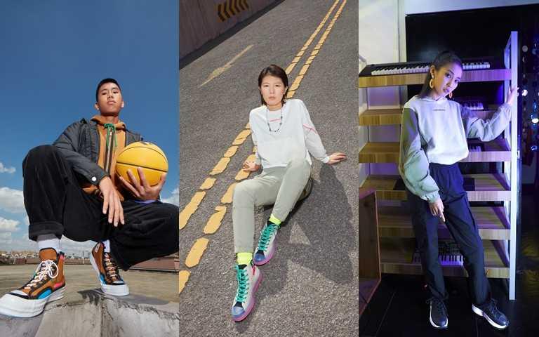 除了鞋款,品牌也公布了春季全新服飾。(圖/Converse)