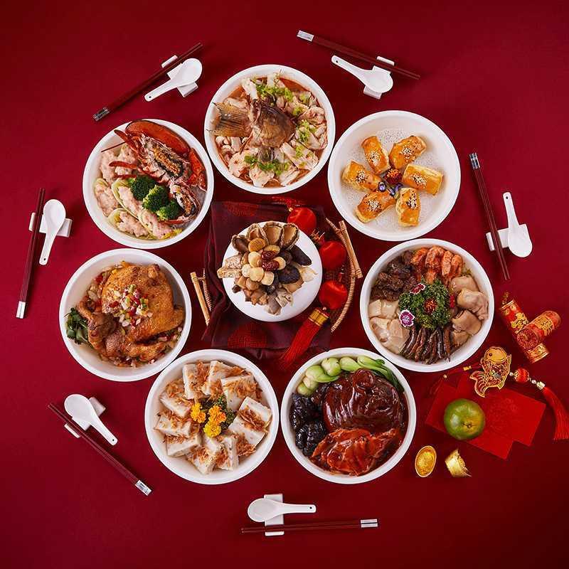 圖為「牛轉乾坤團圓外帶年菜」。圖片來源:香格里拉台南遠東飯店