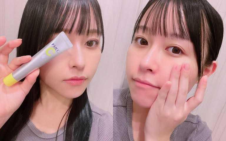 除了早晚直接塗抹於在意的斑點暗沉部位之外,也能加入防曬乳或粉底液中,上妝同時保養。(圖/IG@honoka7000)