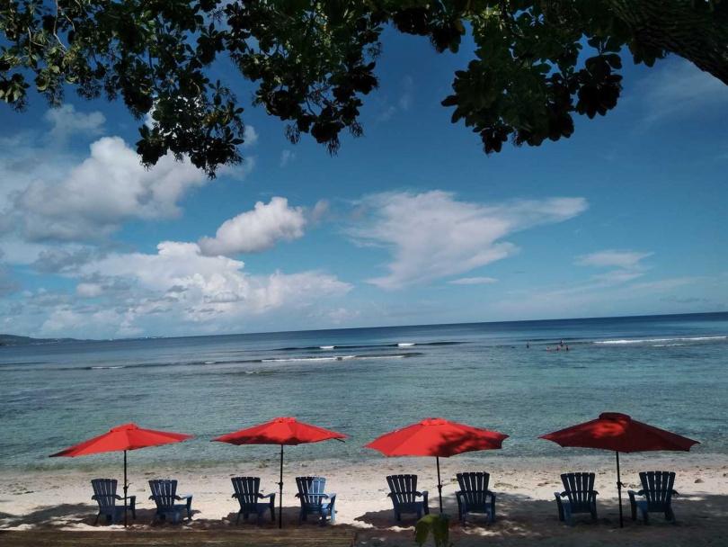 關島秘境法伊法伊海灘,可體驗浮潛、獨木舟等水上活動。