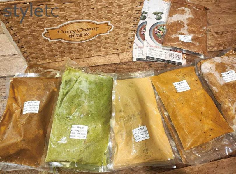 6款咖哩醬包隨機出貨的組合箱,可透過咖哩匠店鋪購買。(圖/品牌提供)