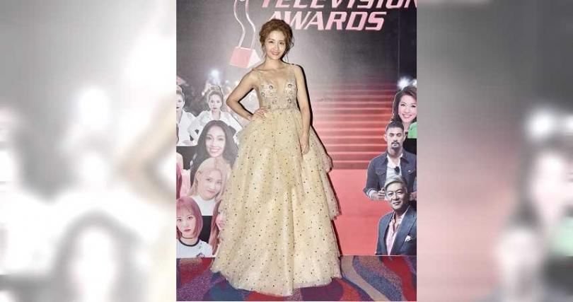 李宣榕忍著哀傷出席「第24屆亞洲電視大獎」。(圖/TVBS提供)