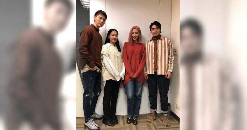 《墜愛》由吳珝陽(左起)、林映唯、安心亞、宋柏緯主演。