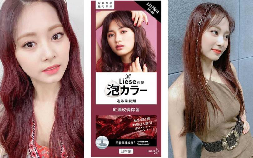 莉婕泡沫染髮劑 #紅酒玫瑰棕色/344元(圖/翻攝網路)