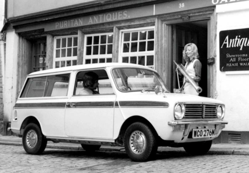 1969年推出的MINI CLUBMAN Estate旅行車,即是現在CLUBMAN的發想來源。(圖/MINI提供)