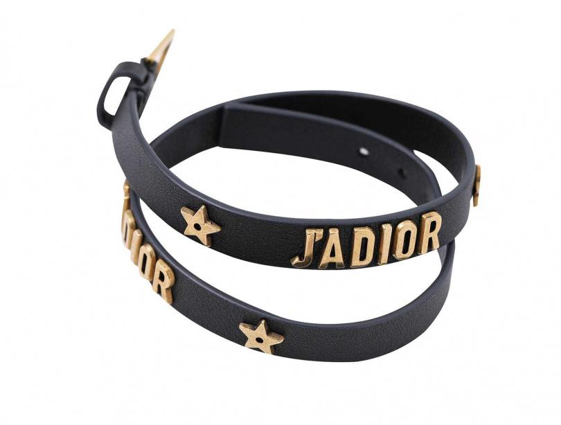 DIORJ'adior Double Bracelet星星牛皮雙圈手環/價格店洽。(圖/戴世平攝)