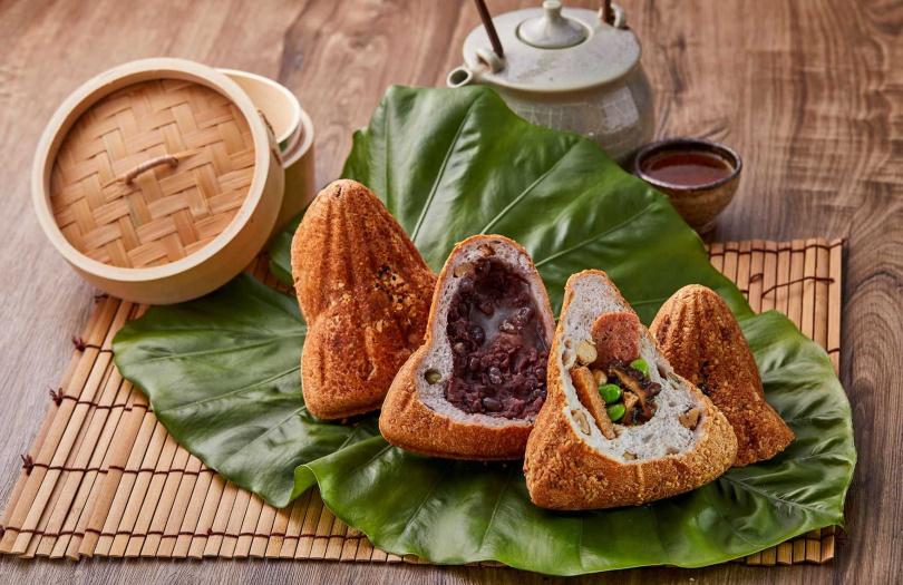 一之軒首度挑戰「用麵包做粽子」,推出鹹甜兩種口味。(圖/一之軒)