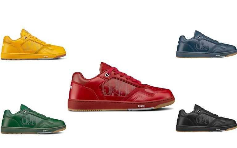 DIOR WORLD TOUR 雷射雕紋小牛皮B27休閒鞋/44,000元(圖/品牌提供)