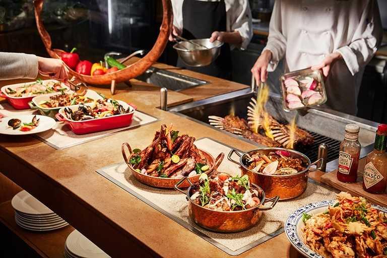 台南遠東香格里拉「遠東CAFÉ」自助餐廳9月17日恢復周五晚餐;週六、週日午晚餐營運。