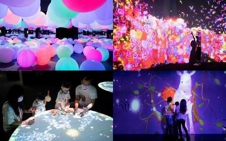 來到這裡讓妳一秒出國,親身體驗最原汁原味的大型藝術互動空間!(圖/翻攝teamLab未來遊樂園粉絲團)