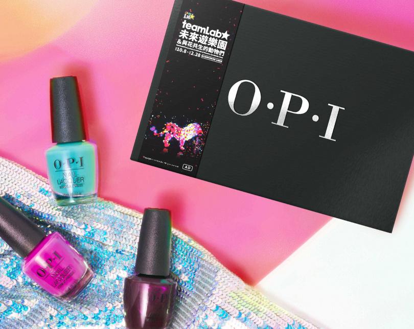 OPI teamLab絕美光影禮盒/999元  任選3入經典指甲油teamLab合作色。(圖/品牌提供)