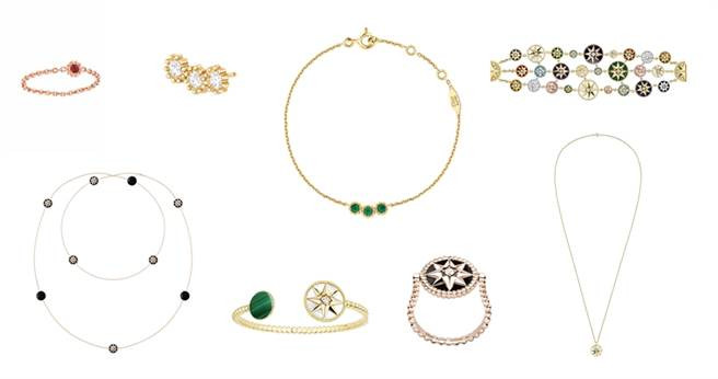 由珠寶創意總監Victoire de Castellane新手打造Dior新一季Rose des Vents與Mimirose珠寶系列。(圖/Dior提供)