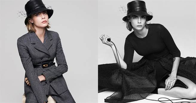Cara Delevingne演繹Dior 2019AW新系列。(圖/翻攝自Dior官方IG)