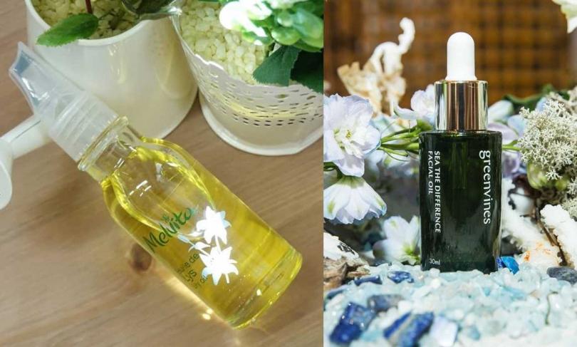 還有這些植物油也很推薦。Melvita百合花油 50ml/1,580元、綠藤生機綠色海洋精華油 30ml/1,980元。(圖/翻攝網路、品牌提供)