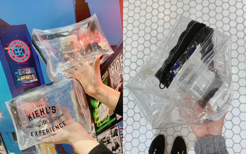 同場加映!只要妳是Kiehl's VVIP獻愛會員到櫃上購買冰河醣蛋白保濕霜搭配任一精華,還能搶先獲得這個太有梗的「潮流空氣收納包」!充氣之後可以增加防撞防摔功能,出國旅行必備!(圖/記者攝)