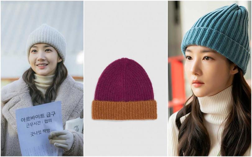 ZARA羊毛混織羅紋針織帽/650元(圖/翻攝網路、品牌提供)