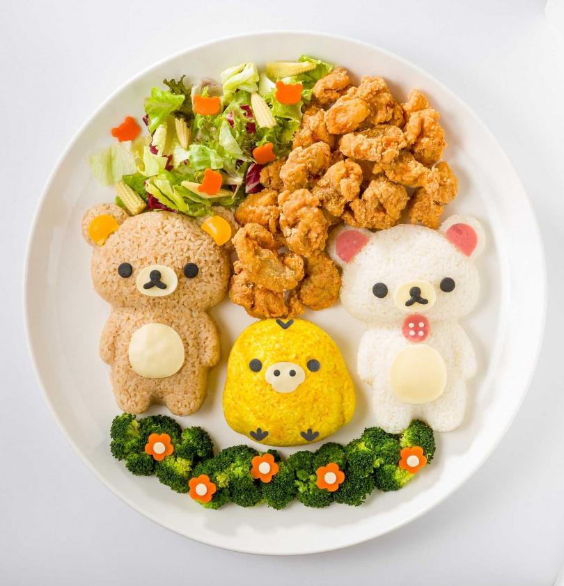 巨型拉拉熊花園餐。(圖/拉拉熊咖啡廳提供)