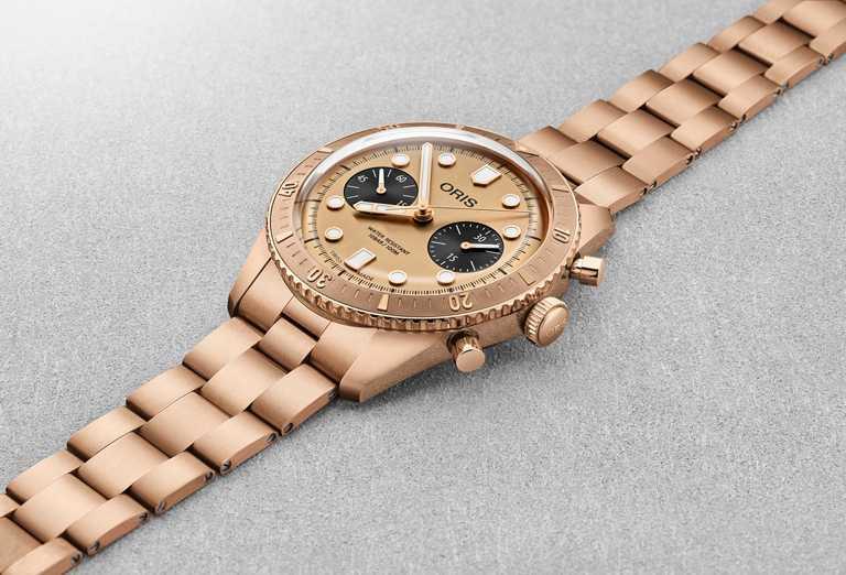 ORIS「Hölstein 2020」限量腕錶,青銅錶殼,42mm,防水100米,限量250只╱155,000元。(圖╱ORIS提供)