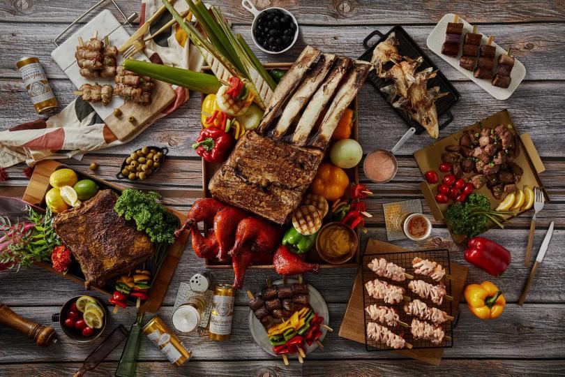 「MJ燒烤季」推出燒烤料理新菜色。(圖/台北國泰萬怡酒店提供)