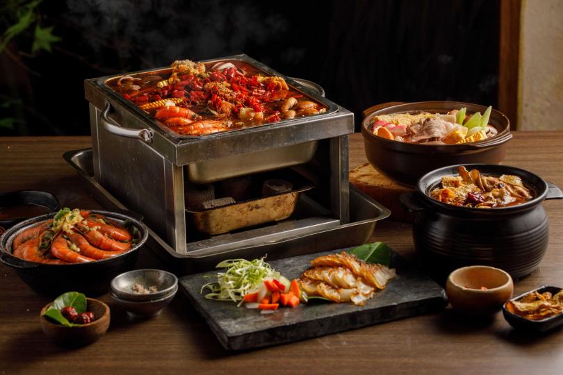 五款經典鍋物由主廚張克勤親自研發,將台灣消費者最喜歡的重口味元素融合鍋物。