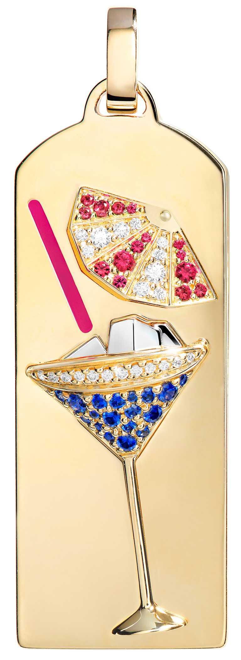 FRED「Riviera」系列,雞尾酒鑽飾黃金鍊墜(正面)╱282,700元。(圖╱FRED提供)