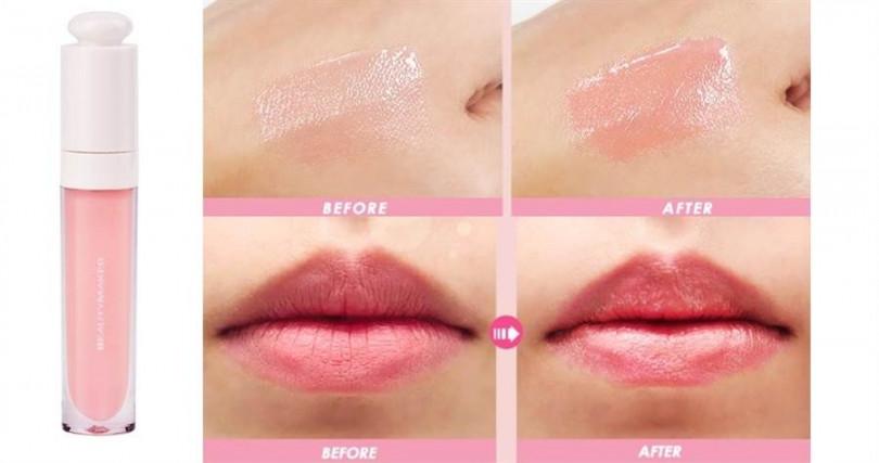 BeautyMaker粉漾護色潤唇露/320元  小編對於塗起來還有淡淡香草味這點愛不釋手>////<。(圖/品牌提供、翻攝網路)
