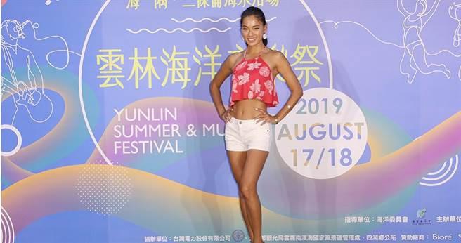 王麗雅將在2019雲林海洋音樂祭帶大家一起做瑜珈。(圖/林勝發攝影)