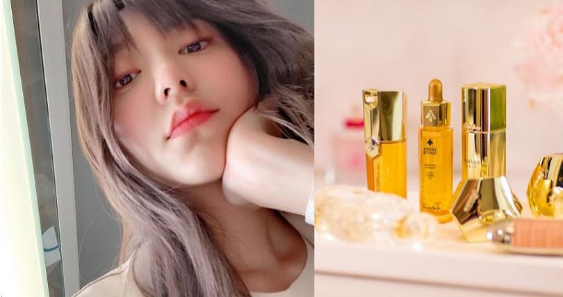 郭雪芙指名愛用的小金瓶嬌蘭皇家蜂王乳平衡油。(圖/IG、品牌提供)