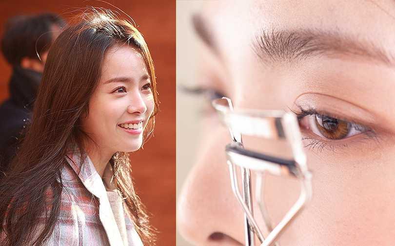 睫毛夾上先抹一點凡士林再夾翹,這是韓星的心機美睫秘密。(圖/Pinterest,二月號愛女生)