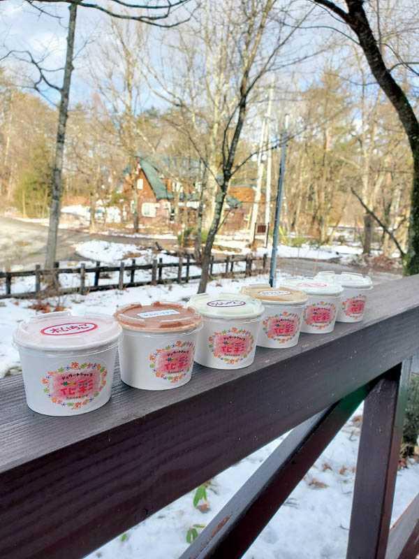 夏語心大推白馬村著名的手工冰淇淋,天氣再冷也要吃。(圖/夏語心經紀人提供)