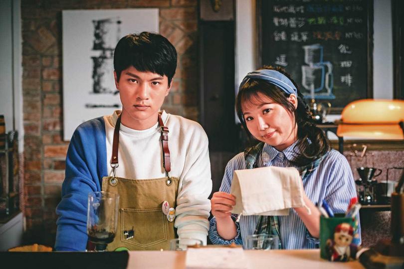 在《老姑婆的古董老菜單》中,黃聖雅飾演李冠毅的初戀。(圖/華視提供)