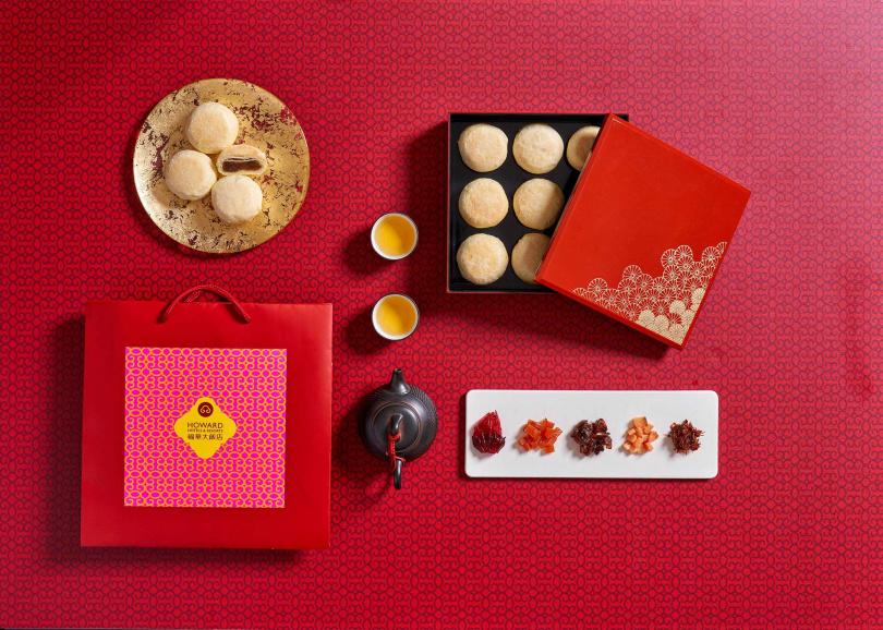 璽月雙層禮盒。(圖/台北福華大飯店提供)