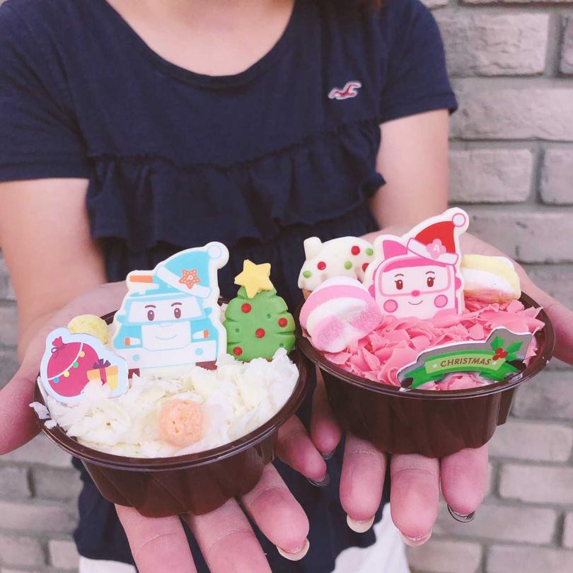 85℃推出兩款切片蛋糕「白雪波力」和「粉紅安寶」。
