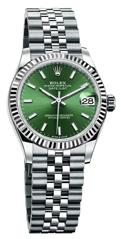 ROLEX「Oyster Perpetual Datejust蠔式恒動日誌」系列腕錶,薄荷綠錶面,蠔式鋼錶殼,31mm╱264,500元(圖╱ROLEX提供)