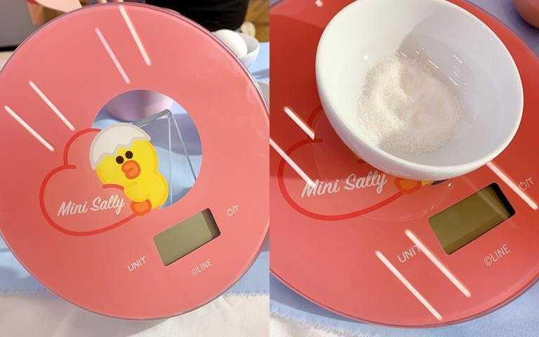 「半斤八兩圓透明料理秤」是寵i會員的獨享換購禮。(圖/吳雅鈴攝影)