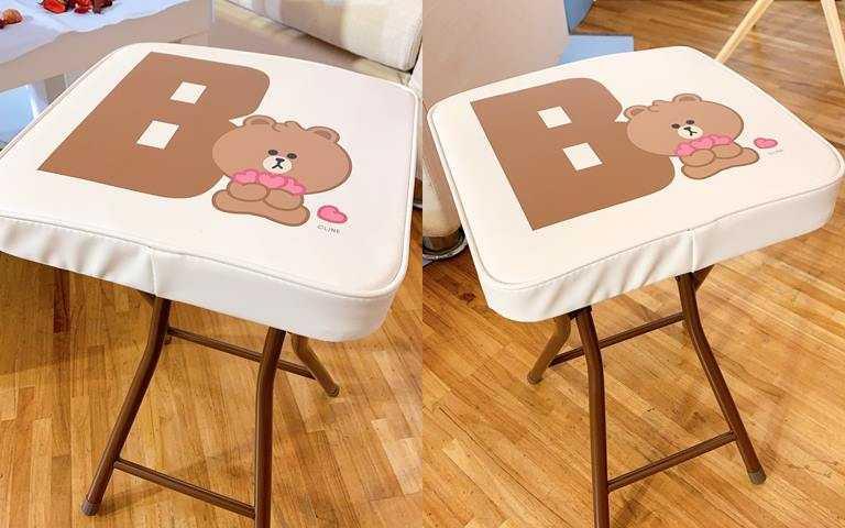 「隨身坐摺疊凳」8點+399元,或是50點免費換。(圖/吳雅鈴攝影)