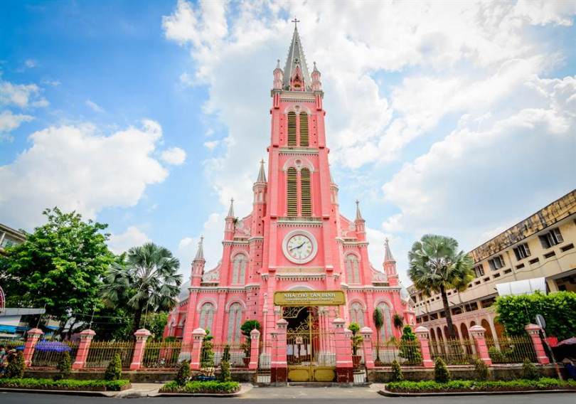 粉紅教堂為網美必打卡熱門景點