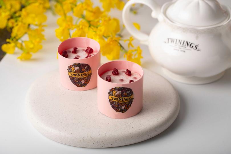 櫻桃羅勒奶醬胭脂茶塔。(圖/台北萬豪酒店提供)