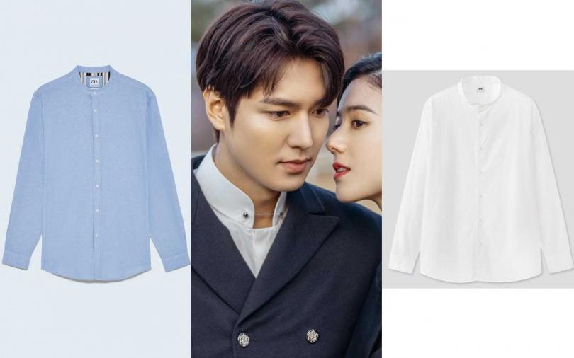 ZARA修身版牛津襯衫/990元、UNIQLO超柔棉府綢立領襯衫(長袖)/490元(圖/翻攝網路、品牌提供)